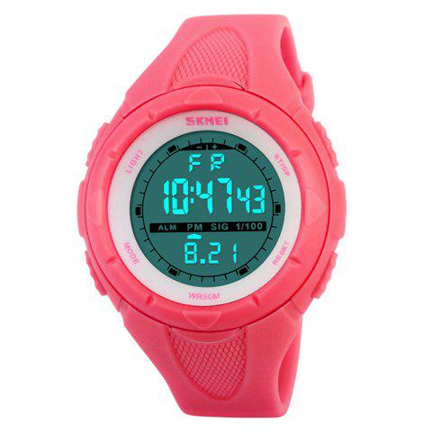 Chic SKMEI Outdoor Luminous Digital Sports Watch - RED  Mobile