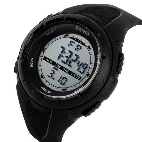 Shop SKMEI Outdoor Luminous Digital Sports Watch - BLACK  Mobile