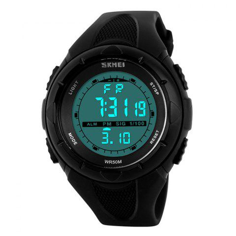 Trendy SKMEI Outdoor Luminous Digital Sports Watch - BLACK  Mobile