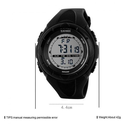 Hot SKMEI Outdoor Luminous Digital Sports Watch - BLACK  Mobile