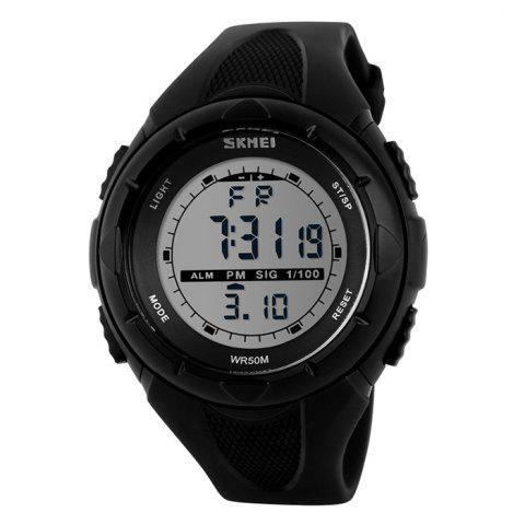Chic SKMEI Outdoor Luminous Digital Sports Watch - BLACK  Mobile