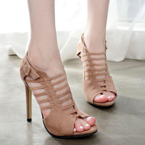 Latest Buckled Gladiator Sandals with Heel