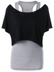 Crop Top with Racerback Camisole -