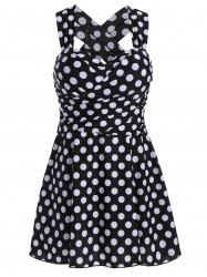 Polka Dot High Waist Plus Size Swimdress -