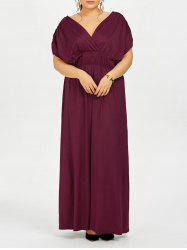 Plus Size Empire Waist Long Formal Evening Dress