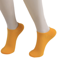 Knited Striped Ankle Socks - ORANGE YELLOW