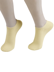 Knited Striped Ankle Socks - Palomino