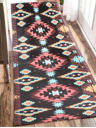 Indian Style Extra Large Geometric Antislip Flannel Bath Mat