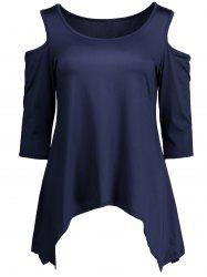 Cold Shoulder Handkerchief Tunic Top