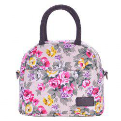 Canvas Floral Print Lunch Bag
