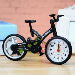 Novelty Number Analog Bicycle Alarm Clock - BLACK