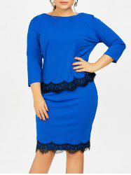 Plus Size Two Piece Bodycon Dress