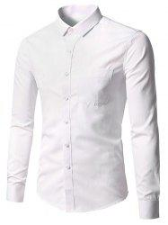 Pocket Long Sleeve Business Shirt