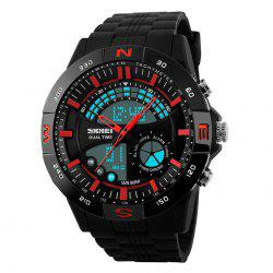 SKMEI Outdoor Timer Tachymeter Digital Sports Watch - RED