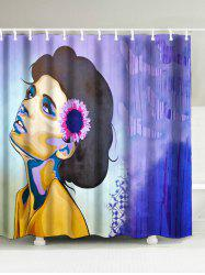 National Style Woman Painted Shower Curtain