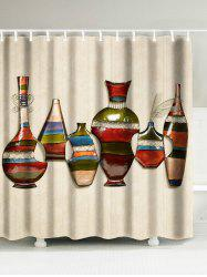 Art Vase Oil Painting Bathroom Shower Curtain