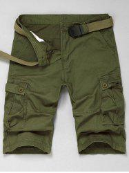Multi Pokets Cargo Shorts - ARMY GREEN