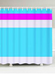 Polyester Fabric Color Block Shower Curtain