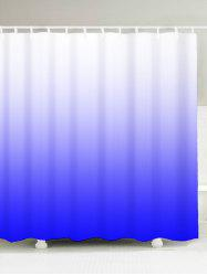 Ombre Waterproof Shower Curtain with Hooks