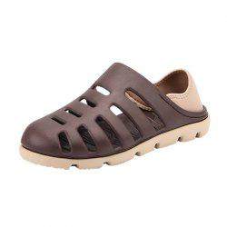 Letter Pattern Breathable Holes Slip On Sandals