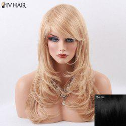 Siv Hair Long Slightly Curly Layered Side Bang Capless Human Hair Wig