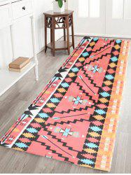 Indian Extra Large Geometric Water Absorption Flannel Bath Rug
