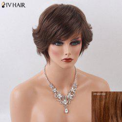 Siv Hair Short Side Bang Natural Human Hair Wig