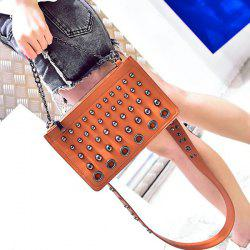 Eyelet Rivet Chain Crossbody Bag