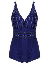 Polka Dot Plus Size One Piece Swimwear