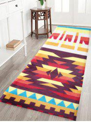 Indian Large Antislip Geometric Water Absorption Bathroom Rug