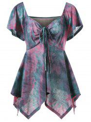 Tie Dye Plus Size Handkerchief Top