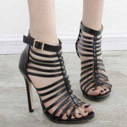 Buckle Strap Gladiator Sandals with Heel