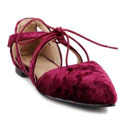 Velvet Pointed Toe Flat Shoes