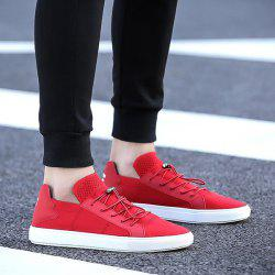 String Faux Leather Casual Shoes