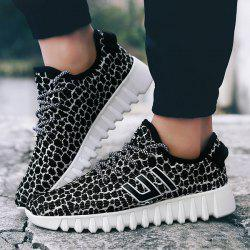 Color Block Geometric Scheme Athletic Shoes