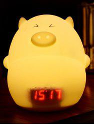 Cartoon LED Color Change Night Light with Alarm Clock