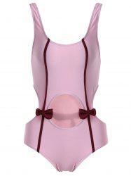 Bowknot Cut Out One Piece Swimwear