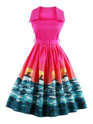 Vintage Pin Up Dress - TUTTI FRUTTI S