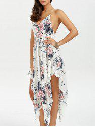 Cami Floral Low Back Handkerchief Dress