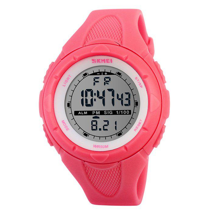 SKMEI Outdoor Luminous Digital Sports WatchJEWELRY<br><br>Color: RED; Gender: For Unisex; Style: Sport; Type: Sport Watch; Index Dial: Analog; Case material: Resin; Band material: Rubber; Movement: Digital; Dial Shape: Round; Water-Proof: No; Case Thickness(MM): 16mm; Dial Diameter: 4.4cm; Band Length(CM): 1-1.9cm; Band Width(CM): 21.5cm; Package Contents: 1 x Watch;