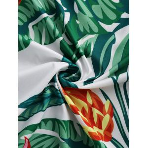 Leaves Flower Round Fringed Beach Throw -