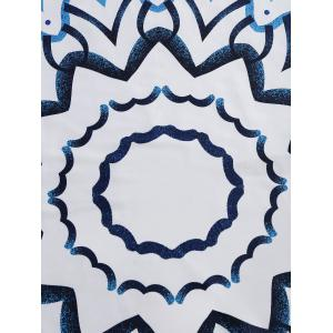 Round frangé Imprimer Throw Beach -