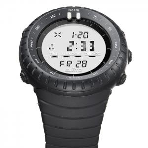 GIMTO Silicone Luminous Digital Sports Watch - WHITE