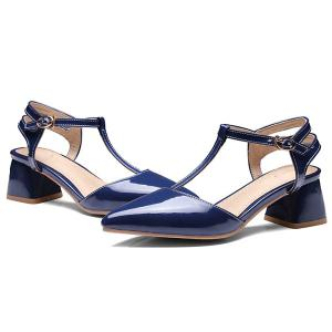 T Bar Pointed Toe Pumps -
