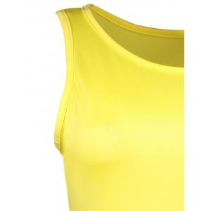 Mini Color Block Fitted Tank Dress - YELLOW S