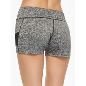 Mesh Panel Running Shorts - GRAY M