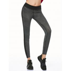 Geometric Stripe Running Leggings
