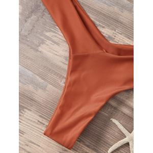 High Cut Sporty Two Piece Swimsuit - ORANGE RED S