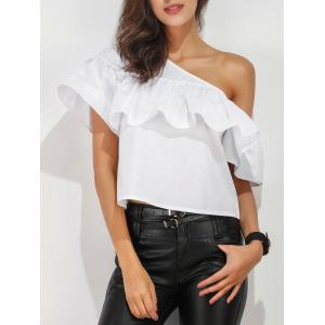Ruffle Layer One Shoulder Blouse
