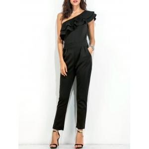 Ruffle Layer One Shoulder Jumpsuit